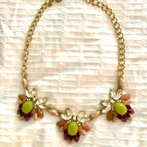 J.Crew multi colored jewel necklace